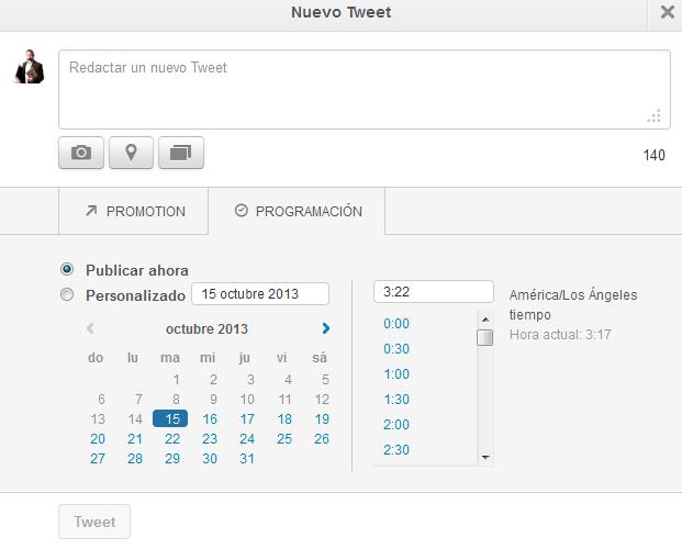Twitter permite programar tuits