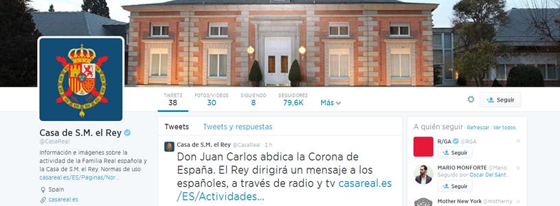 Casa Real en Twitter